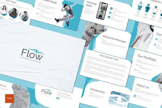 Presentation Templates: Flow - PowerPoint Template #07720
