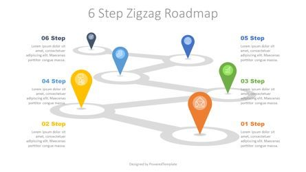 Infographics: 6 Step Zigzag Roadmap #07721