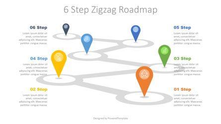 Infographics: 6 Step Zigzag Roadmap #07721