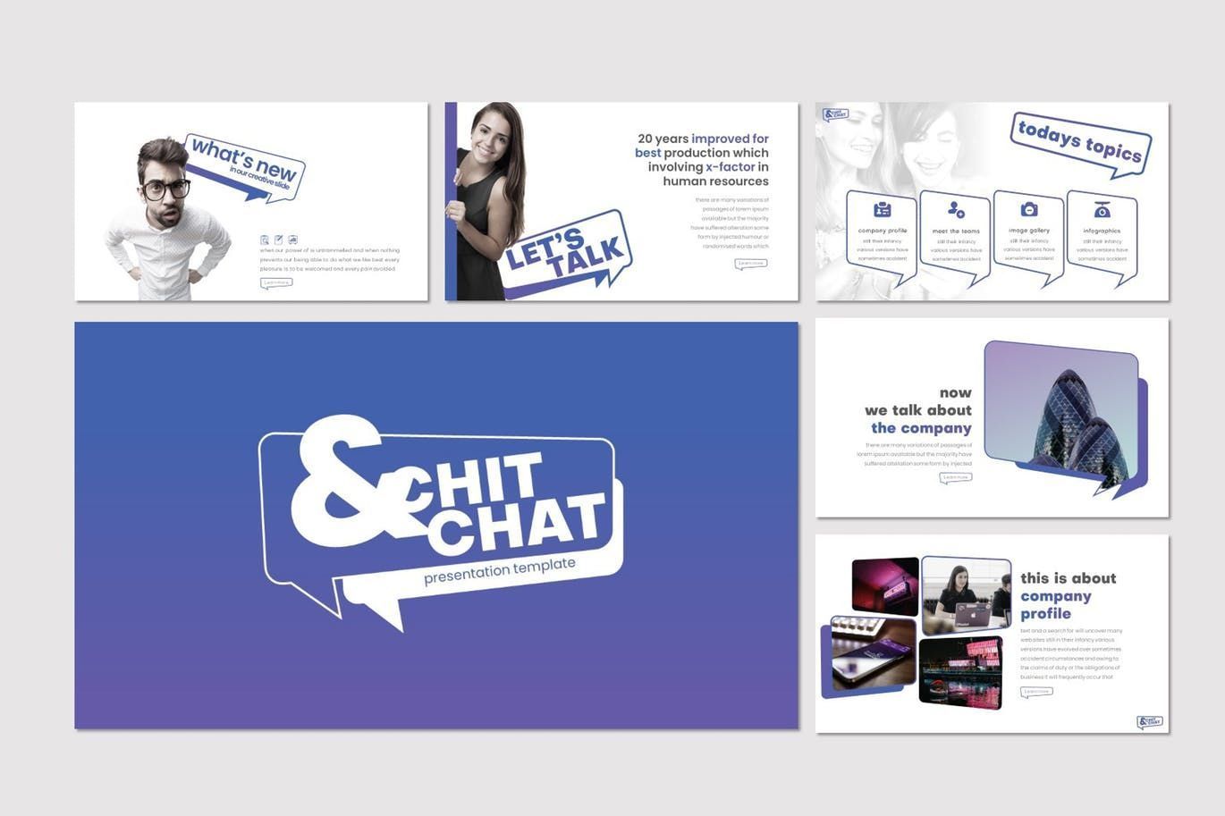 Chit Chat - PowerPoint Template, Slide 2, 07723, Presentation Templates — PoweredTemplate.com