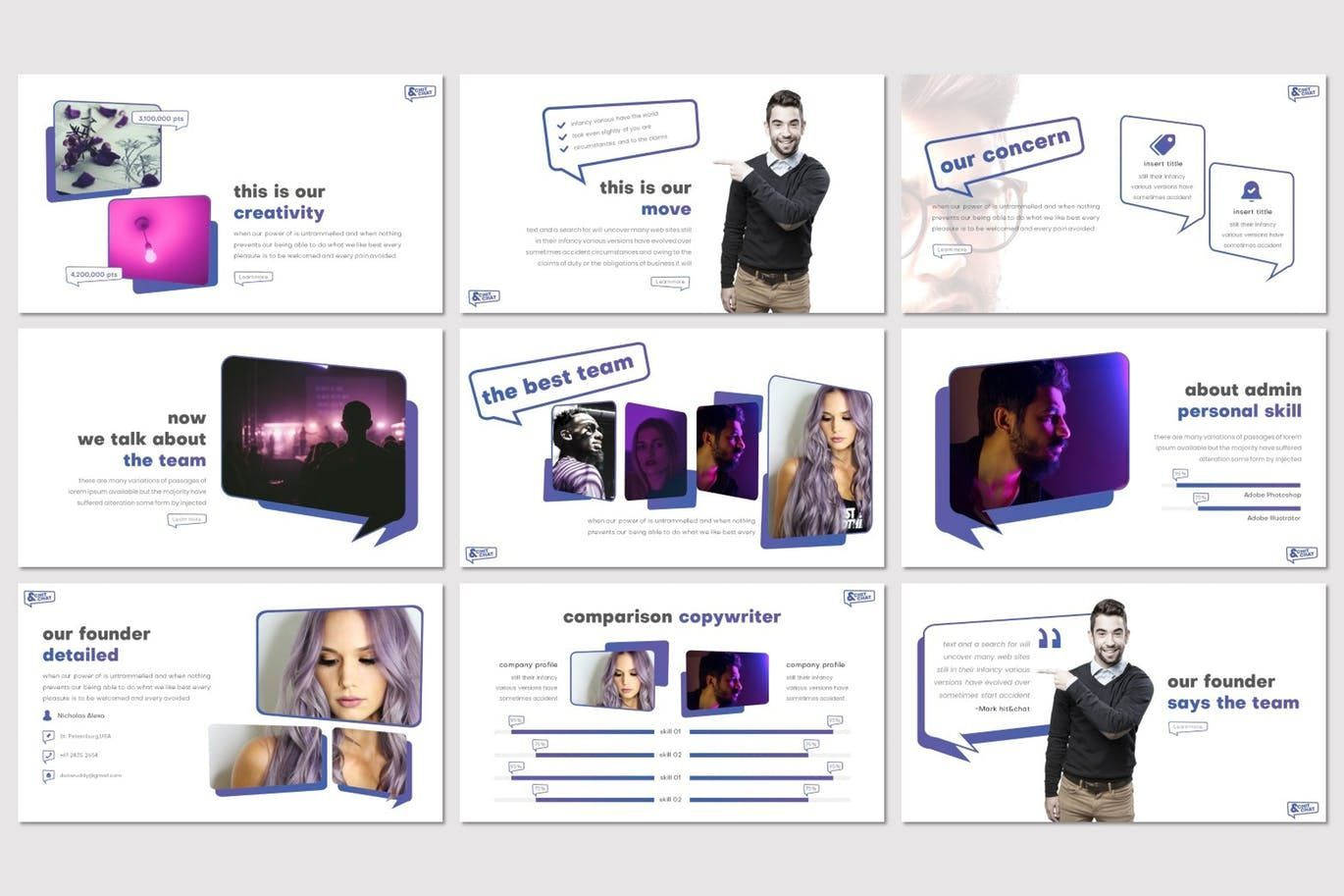 Chit Chat - PowerPoint Template, Slide 3, 07723, Presentation Templates — PoweredTemplate.com