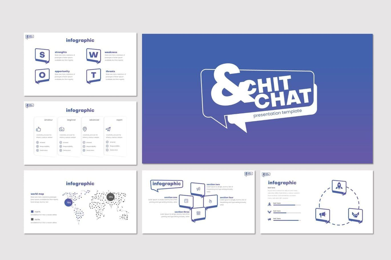 Chit Chat - PowerPoint Template, Slide 5, 07723, Presentation Templates — PoweredTemplate.com