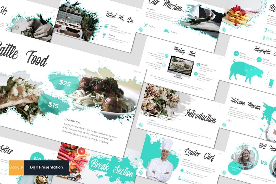 Dish - Google Slides Template, 07724, Presentation Templates — PoweredTemplate.com