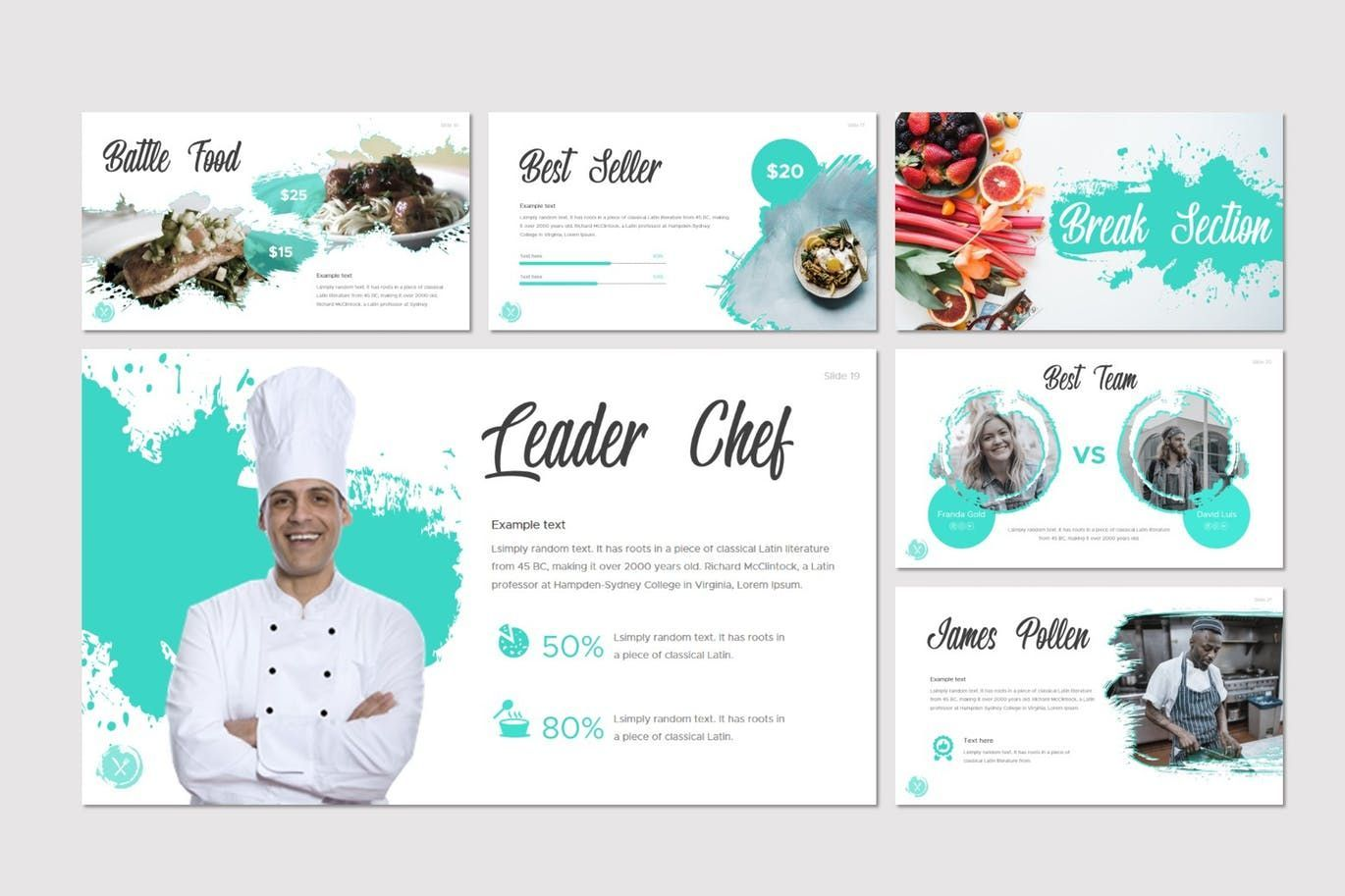 Dish - Google Slides Template, Slide 4, 07724, Presentation Templates — PoweredTemplate.com