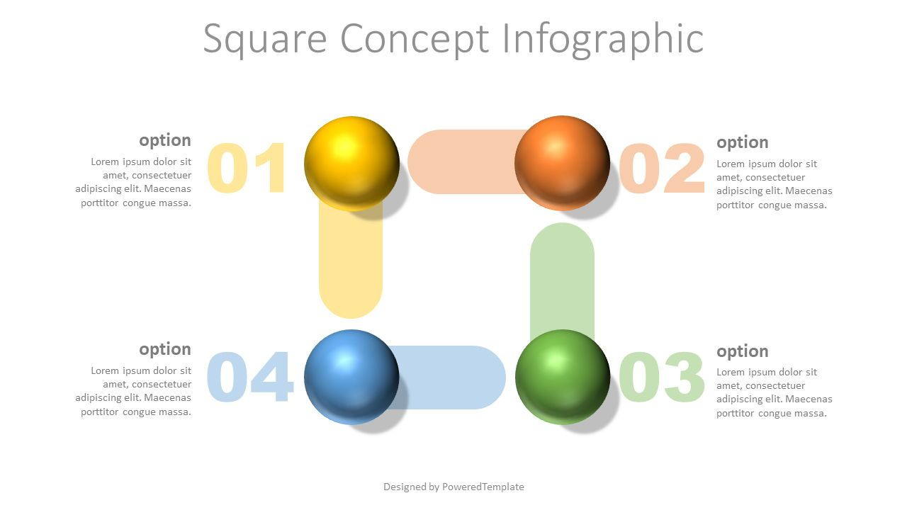 Square Shape Concept Infographic, Slide 2, 07725, Education Charts and Diagrams — PoweredTemplate.com