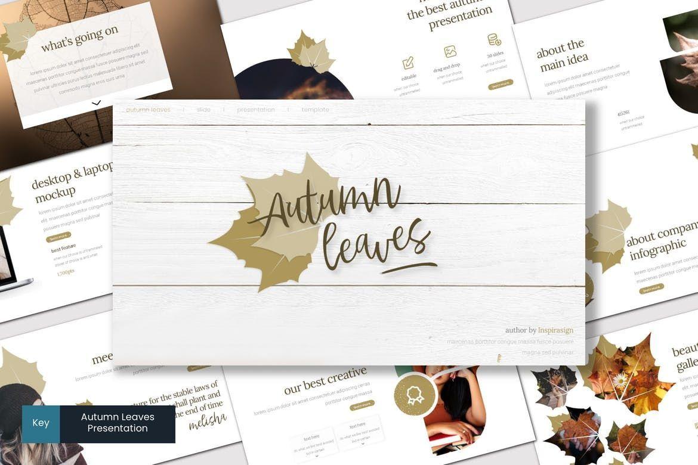 Autumn Leaves - Keynote Template, 07727, Presentation Templates — PoweredTemplate.com