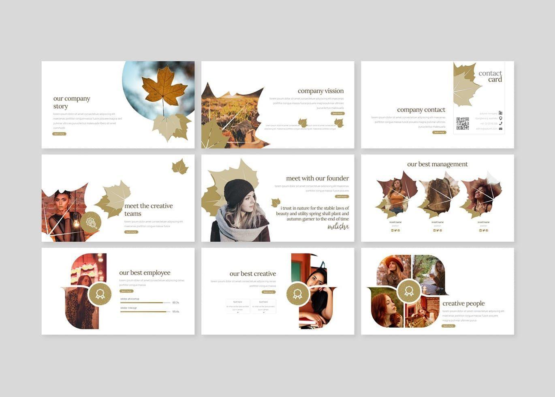 Autumn Leaves - Keynote Template, Slide 3, 07727, Presentation Templates — PoweredTemplate.com