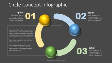 Education Charts and Diagrams: Circle Shape Concept Infographic #07729