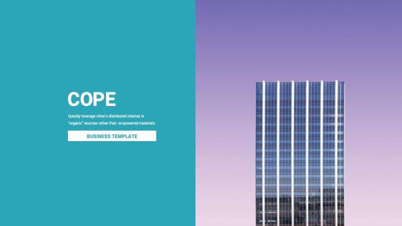 COPE Business Powerpoint Template, 07730, Presentation Templates — PoweredTemplate.com