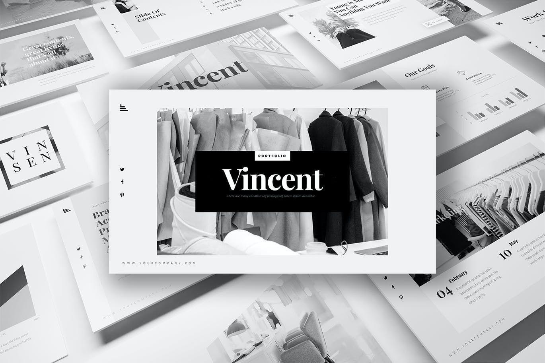 Vincent PowerPoint Presentation, 07731, Graph Charts — PoweredTemplate.com