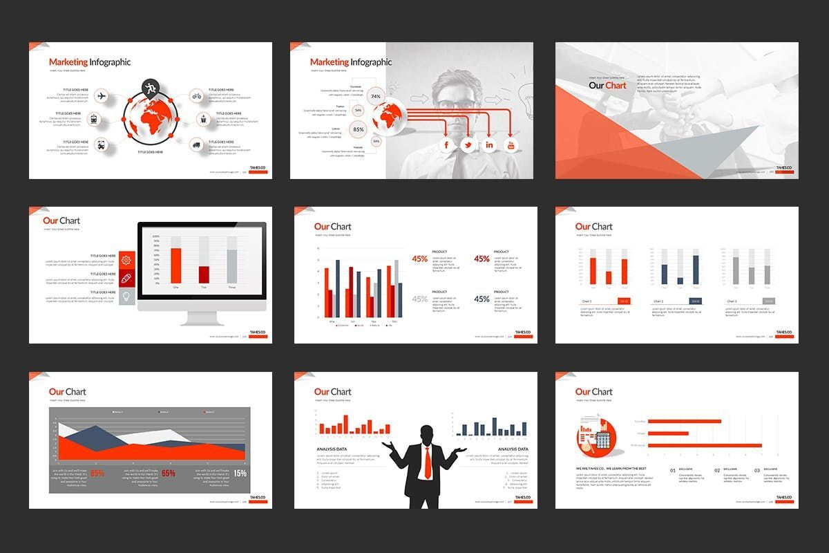 Tahes Co PowerPoint Template, Slide 11, 07733, Business Models — PoweredTemplate.com