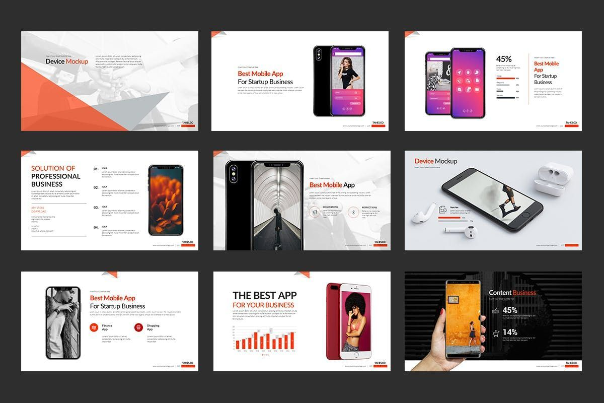 Tahes Co PowerPoint Template, Slide 12, 07733, Business Models — PoweredTemplate.com