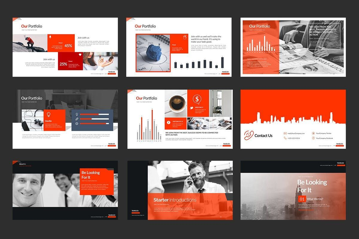 Tahes Co PowerPoint Template, Slide 15, 07733, Business Models — PoweredTemplate.com