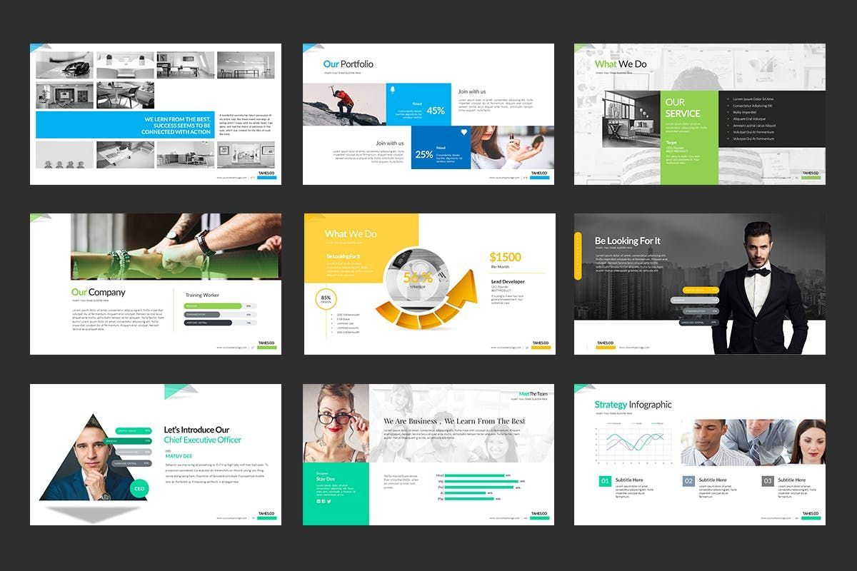Tahes Co PowerPoint Template, Slide 16, 07733, Business Models — PoweredTemplate.com
