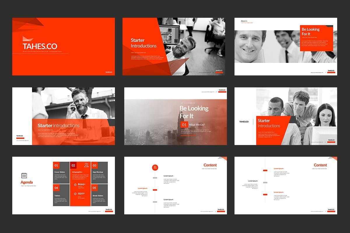 Tahes Co PowerPoint Template, Slide 2, 07733, Business Models — PoweredTemplate.com