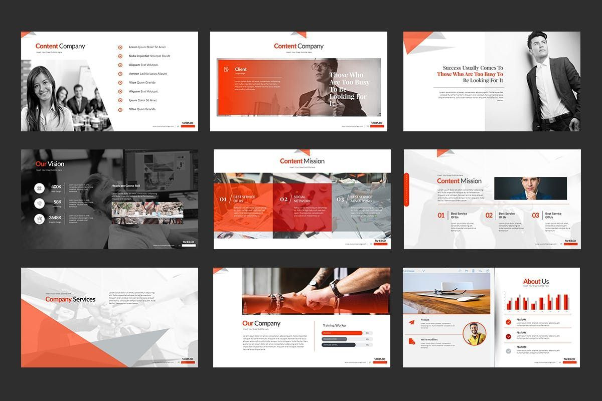 Tahes Co PowerPoint Template, Slide 3, 07733, Business Models — PoweredTemplate.com