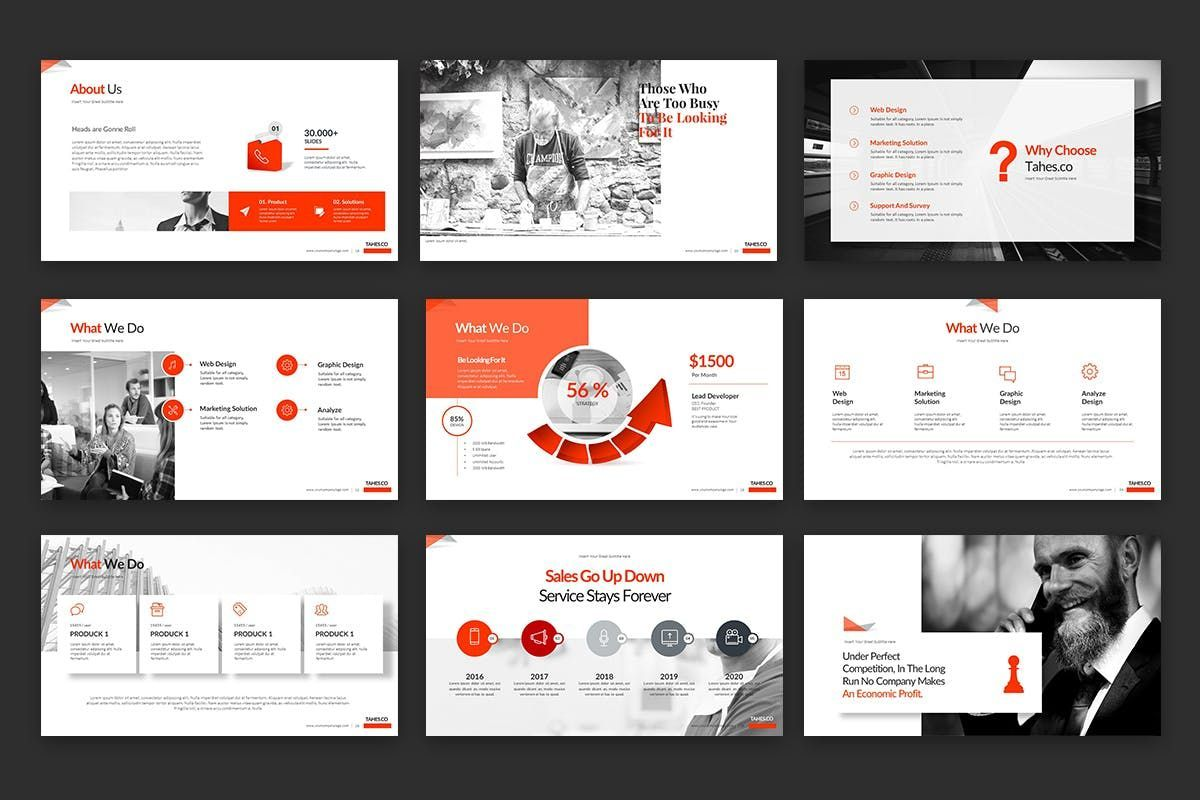 Tahes Co PowerPoint Template, Slide 4, 07733, Business Models — PoweredTemplate.com
