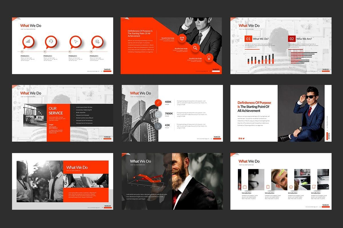 Tahes Co PowerPoint Template, Slide 5, 07733, Business Models — PoweredTemplate.com