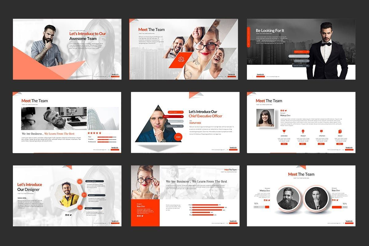 Tahes Co PowerPoint Template, Slide 6, 07733, Business Models — PoweredTemplate.com