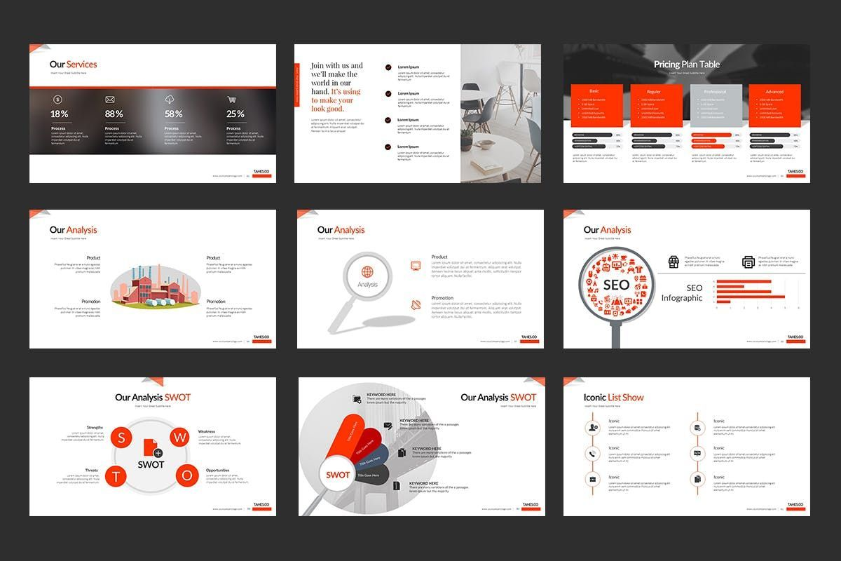 Tahes Co PowerPoint Template, Slide 8, 07733, Business Models — PoweredTemplate.com