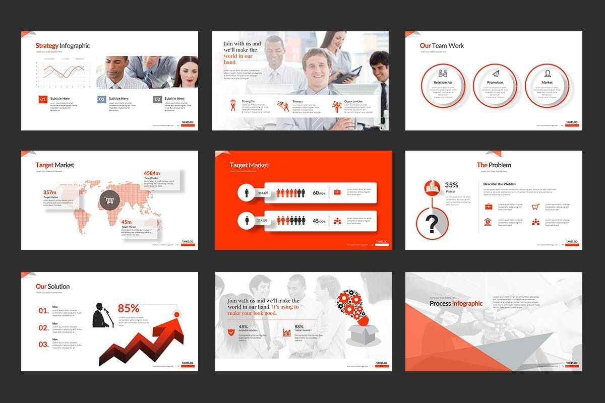Tahes Co PowerPoint Template, Slide 9, 07733, Business Models — PoweredTemplate.com