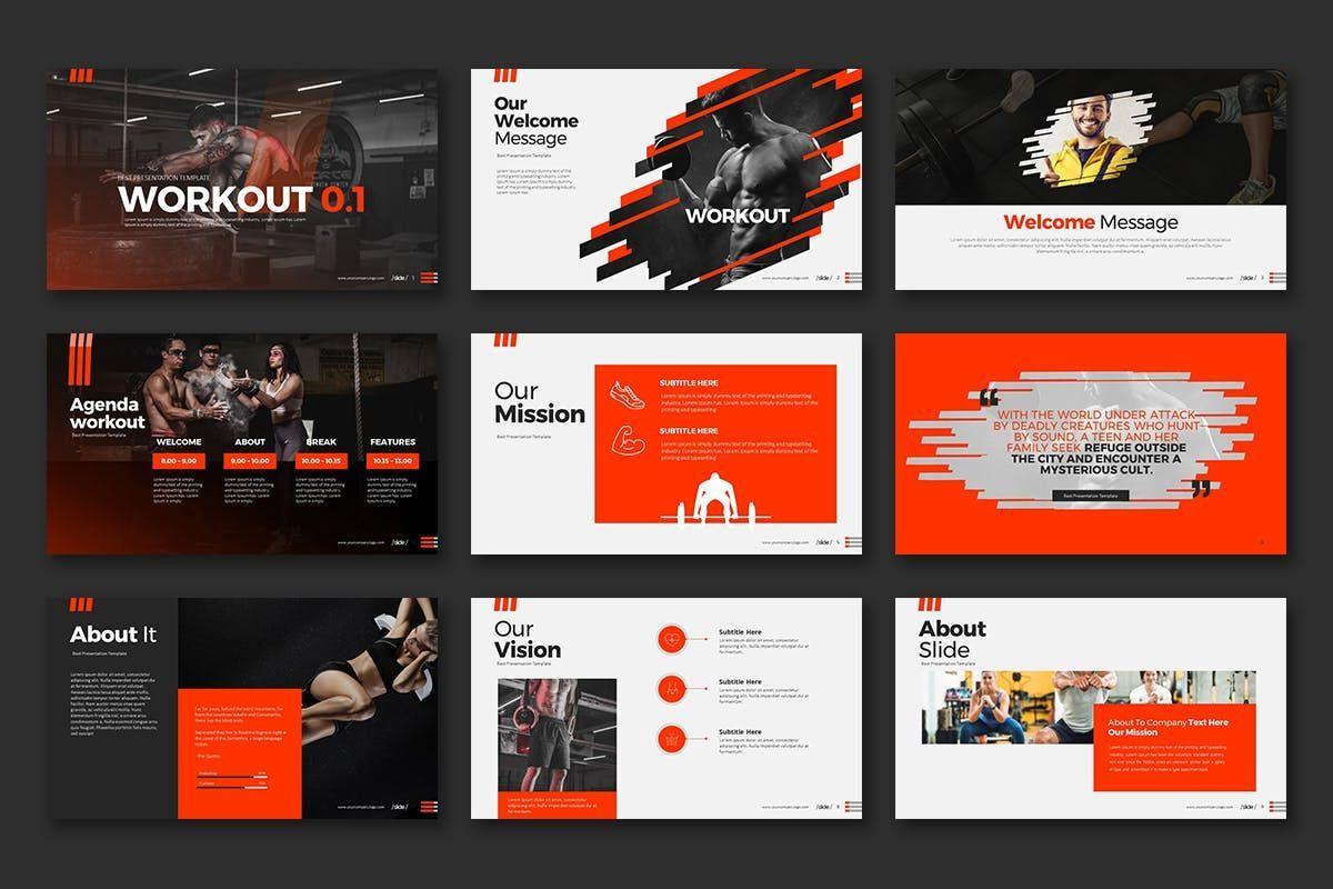 WORKOUT 0 1 PowerPoint Presentation, Slide 2, 07734, Business Models — PoweredTemplate.com