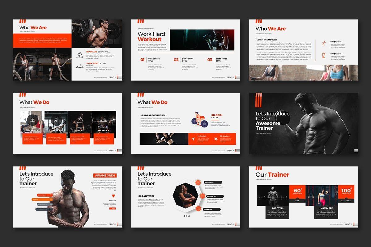 WORKOUT 0 1 PowerPoint Presentation, Slide 4, 07734, Business Models — PoweredTemplate.com