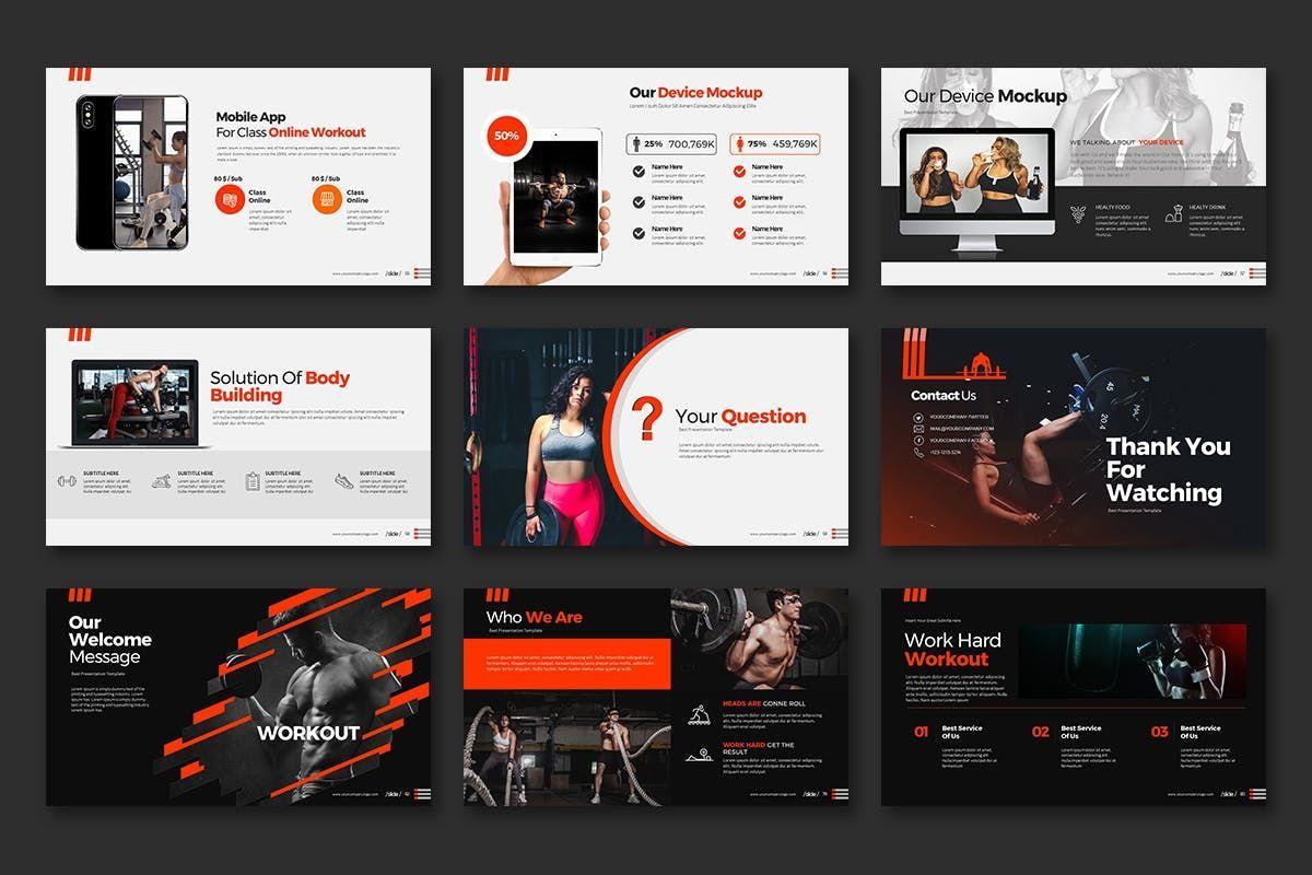 WORKOUT 0 1 PowerPoint Presentation, Slide 8, 07734, Business Models — PoweredTemplate.com