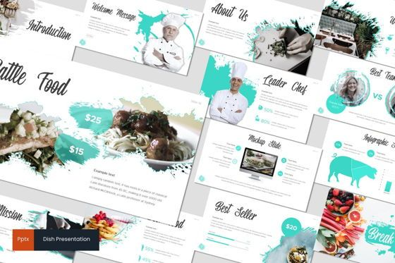 Presentation Templates: Dish - PowerPoint Template #07737