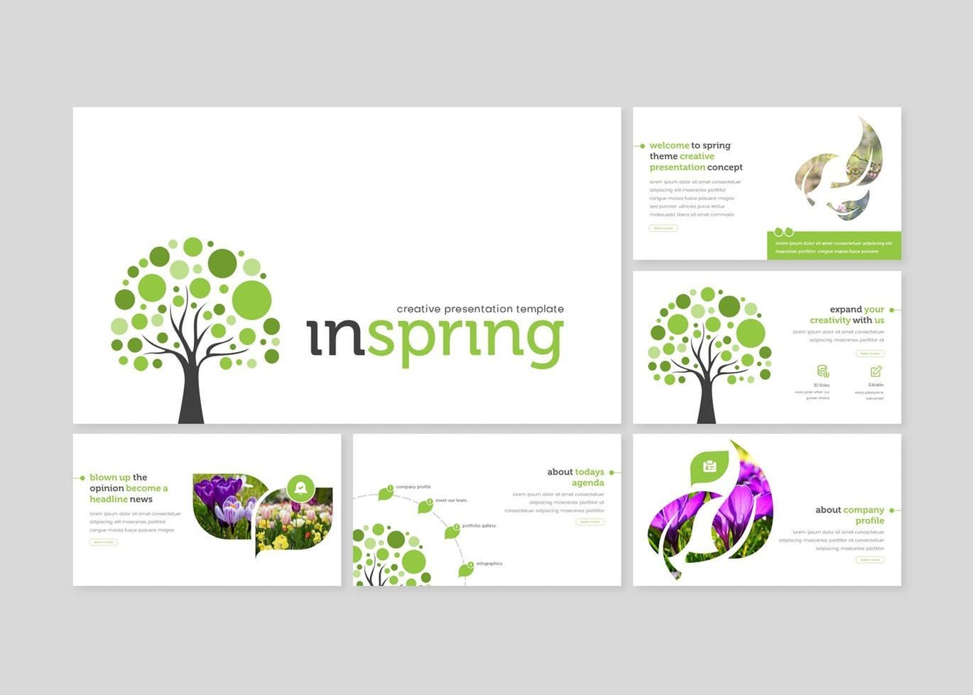 Inspring - Google Slides Template, Slide 2, 07738, Presentation Templates — PoweredTemplate.com