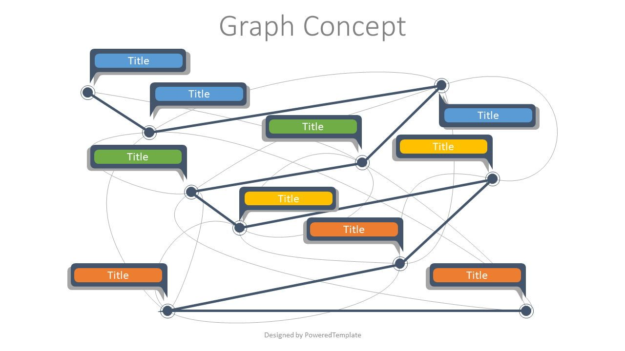 Graph Concept Diagram, 07739, Graph Charts — PoweredTemplate.com