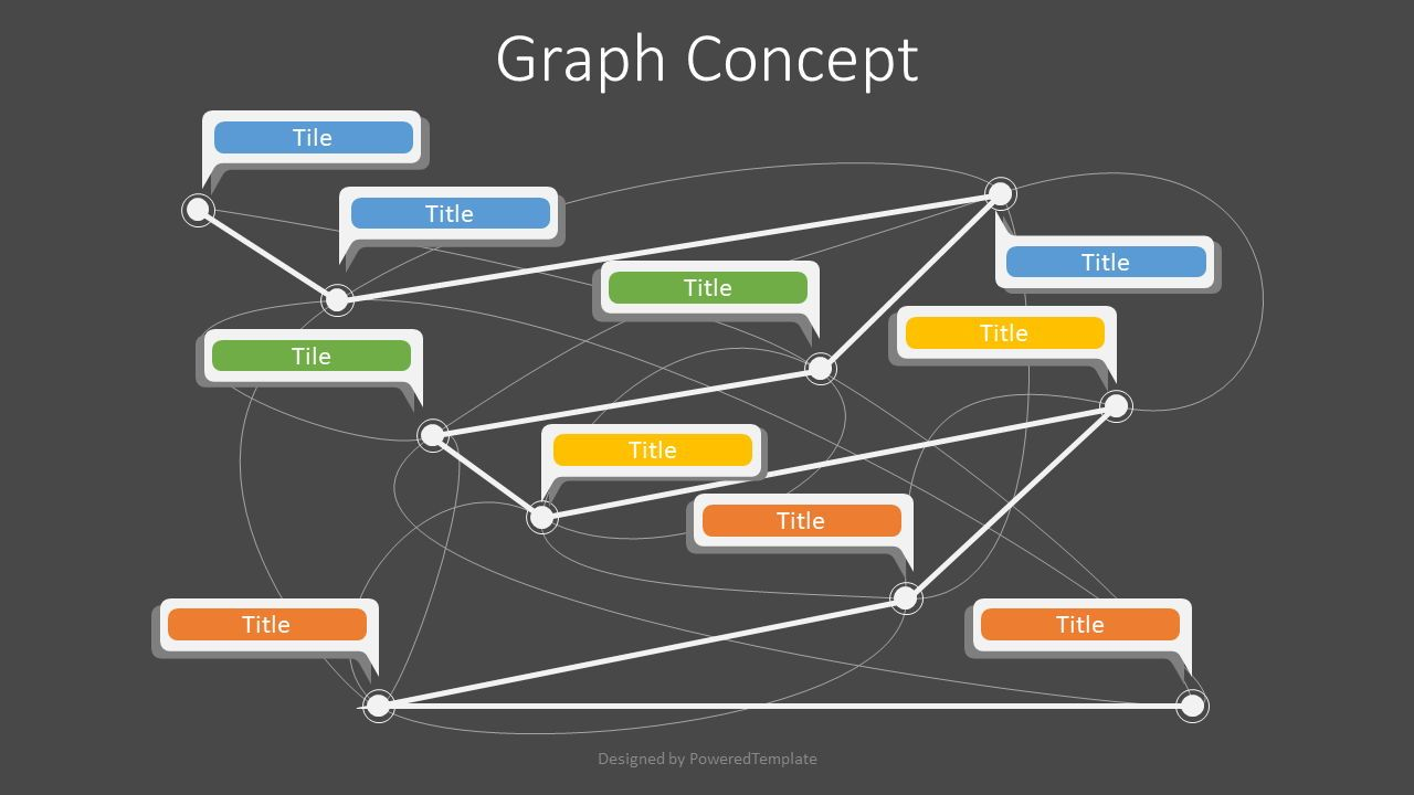 Graph Concept Diagram, Slide 2, 07739, Graph Charts — PoweredTemplate.com