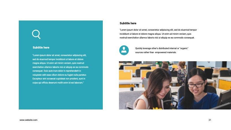 COPE Business GoogleSlide Template, Slide 21, 07741, Presentation Templates — PoweredTemplate.com