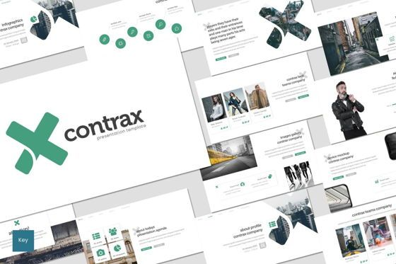 Presentation Templates: Contrax - Keynote Template #07742