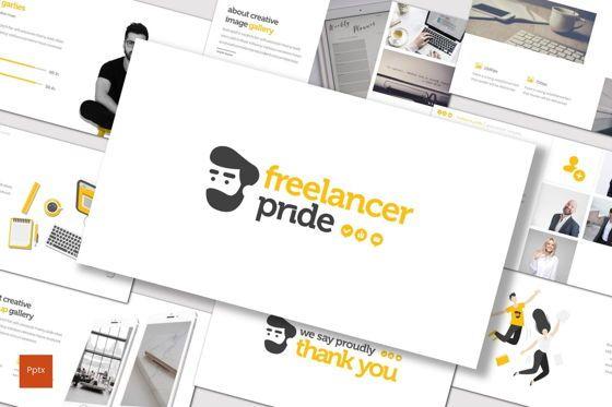 Presentation Templates: Freelancer Pride - PowerPoint Template #07743
