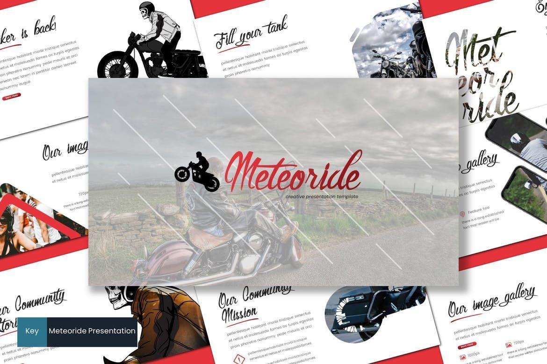 Meteoride - Keynote Template, 07744, Presentation Templates — PoweredTemplate.com
