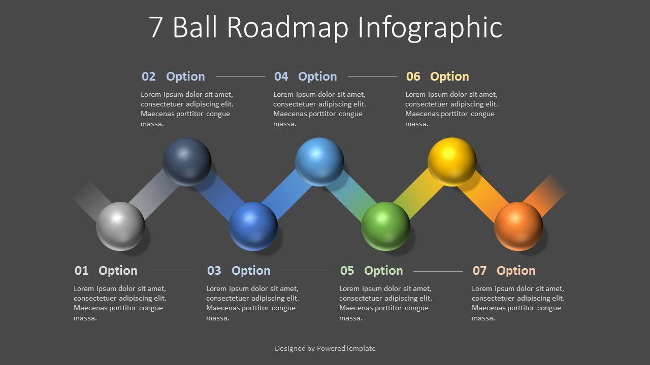7 Ball Roadmap Infographic, 07745, Infographics — PoweredTemplate.com