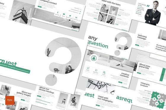 Presentation Templates: Asrequest - PowerPoint Template #07746