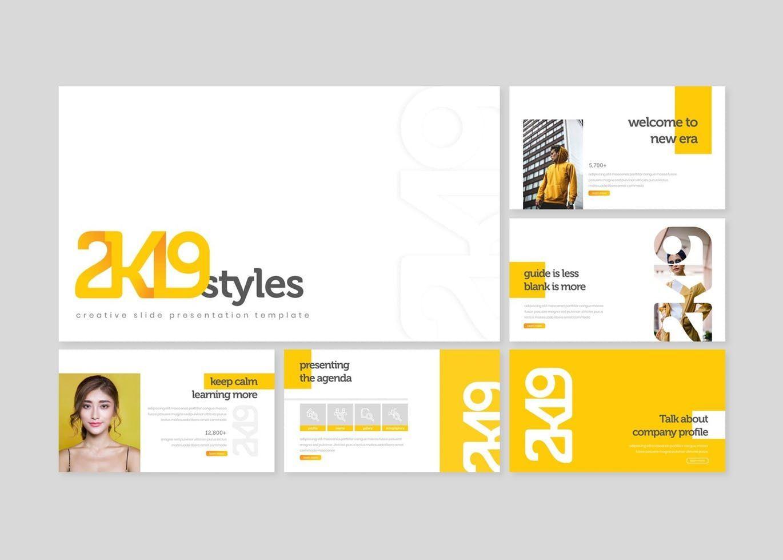 2k19 - PowerPoint Template, Slide 2, 07747, Presentation Templates — PoweredTemplate.com