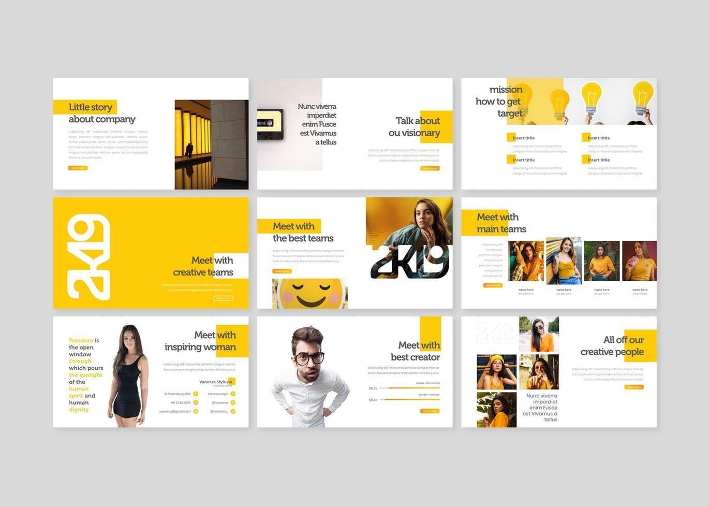 2k19 - PowerPoint Template, Slide 3, 07747, Presentation Templates — PoweredTemplate.com
