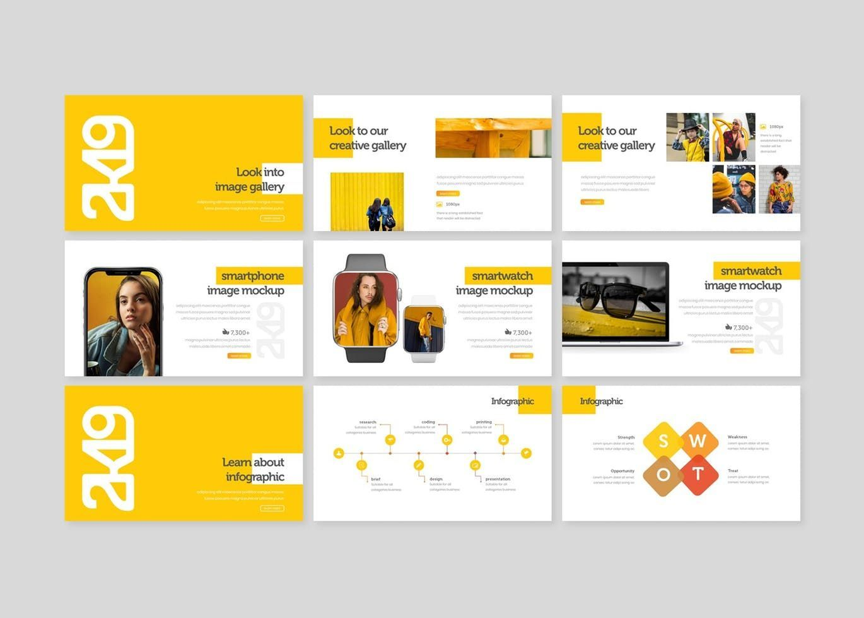 2k19 - PowerPoint Template, Slide 4, 07747, Presentation Templates — PoweredTemplate.com