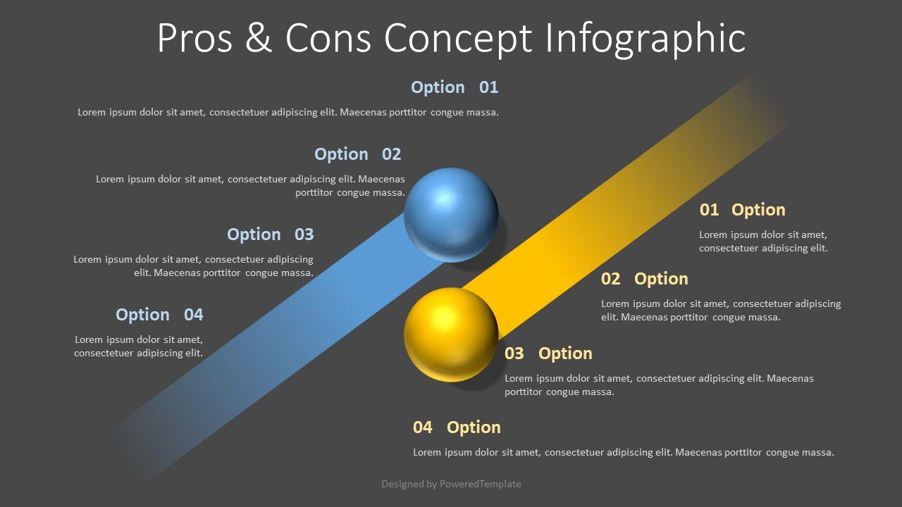 Pros and Cons Concept, 07748, Infographics — PoweredTemplate.com