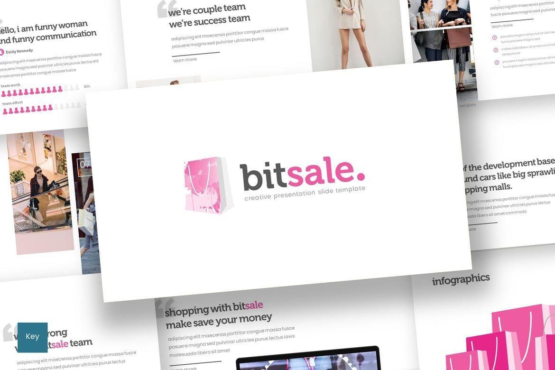 Bitsale - Keynote Template, 07749, Presentation Templates — PoweredTemplate.com