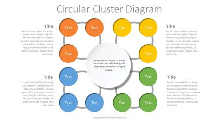 Education Charts and Diagrams: Circular Cluster Diagram #07752