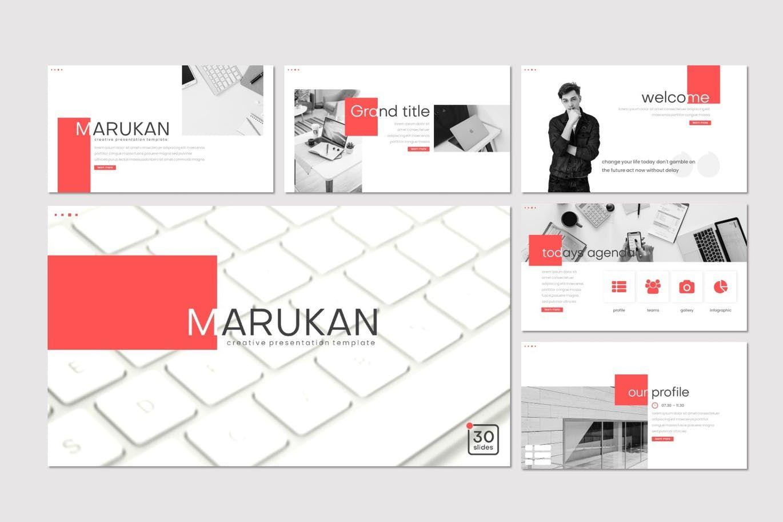 Marukan - Keynote Template, Slide 2, 07753, Presentation Templates — PoweredTemplate.com