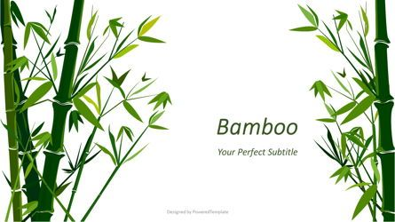 Presentation Templates: Green Bamboo Forest Background #07755