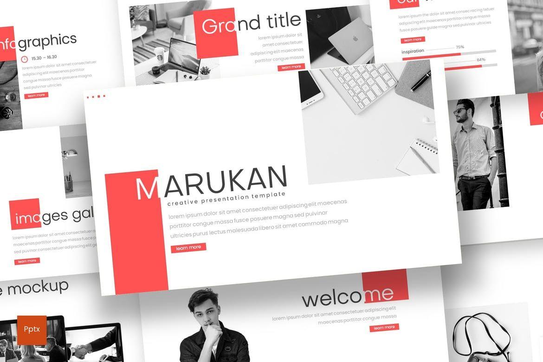 Marukan - PowerPoint Template, 07756, Presentation Templates — PoweredTemplate.com