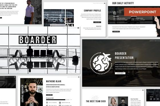 Presentation Templates: Boarder - Powerpoint Template #07758