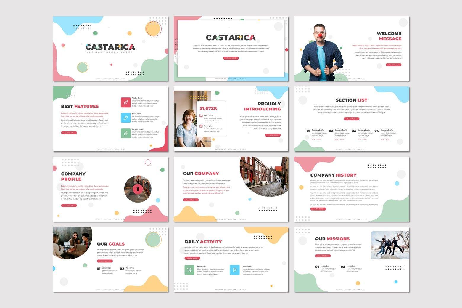 Castarica - Powerpoint Template, Slide 2, 07760, Presentation Templates — PoweredTemplate.com