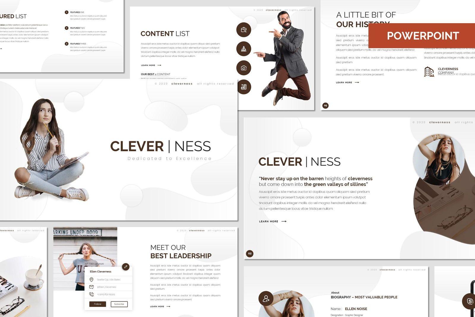 Clevernes - Powerpoint Template, 07761, Presentation Templates — PoweredTemplate.com